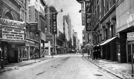 The Mayflower Theater on Washington Street in 1956.